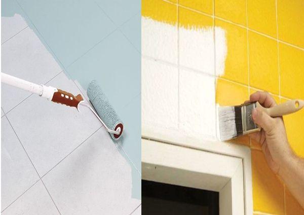 como pintar los azulejos de la cocina o bao with pintar azulejos cocina
